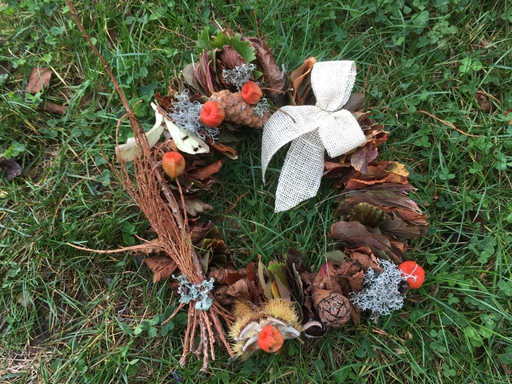 Herbst-Dekorationen gebastelt