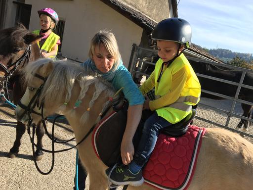 Ganzheitlicher Kontakt und Umgang mit den Ponys beim Ponyplausch in Pieterlen